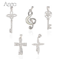 A N Clearance Sale 925 Sterling Silver Pendant Jewelry Crown Key Cross Music Character Star Pendant