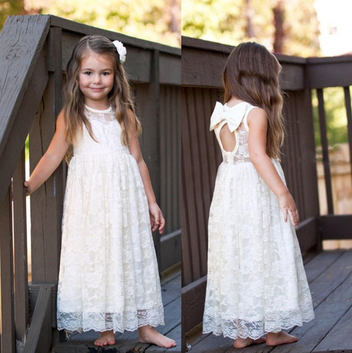 Free Shipping Sleeveless Bows Baby S Summer Ball Gowns Ruffles Tutu Lace Party Dress Wedding Child