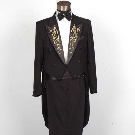 Plus Size  Vintage Medieval White Embroidered with diamonds stage performance singer Suit & Blazer Costumes S-3XL