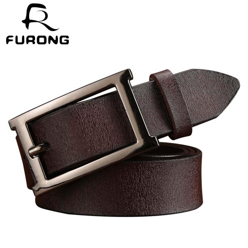Brand Design Women's   Belt   Black Vintage Style Genuine Leather Pin Buckle   Belts   Female Adjustable   Belt   Female Designer   Belt