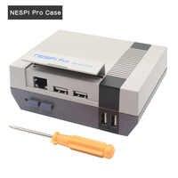 Nueva carcasa nesppro con RTC Raspberry Pi 3 B + Plus clásica estilo NES consola de juegos para Raspberry pi 3 Modelo B +, 3B