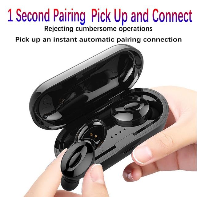 Bluetooth Earphones True Wireless Headphones 5 0 TWS in Ear Earbuds IPX5 Waterproof Mini Headset