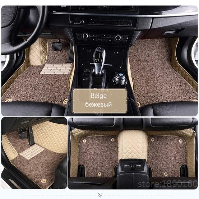 Toyota Corolla Camry Rav4 Auris Prius Yalis Avensis Alphard 4 러너 Hilux highlander sequoia corwn 용 맞춤형 카 바닥 매트