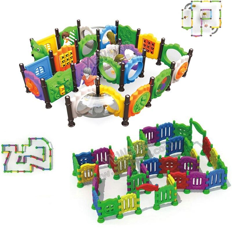 Aire de jeux extérieure de labyrinthe de docteur, labyrinthe en plastique d'intérieur de labyrinthe d'enfants, jouets éducatifs de grille en plastique, labyrinthe multifonctionnel de grille