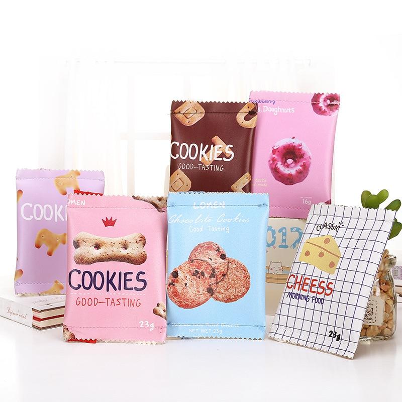 купить 14 Style Creative Candy Snacks Coin Purse Women PU Leather Zipper Change Purse Wallet Holders Mini Money Bag For Kids Girl Gift по цене 82.88 рублей