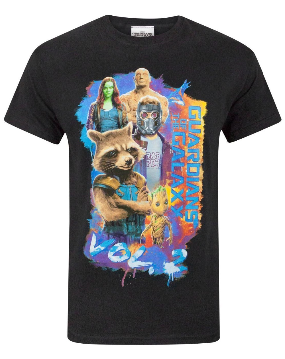 2018 Streetwear Short Sleeve Tees Guardians Of The Galaxy Vol 2 Group Pose Mens T-Shirt Print Summer Tops Tees