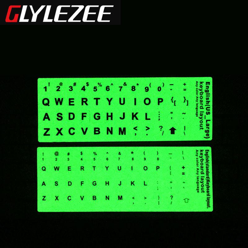 Aydınlık İngilizce Klavye Sticker glow ile Aydınlatmalı Klavye Kapağı Filmi Sermaye Harfler Yayınlanmıştır 2 Fontları