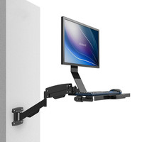 Intercity wall mounted keyboard bracket display Bracket LCD LCD Screen Station dual use working wall W802 W802B Long Arm