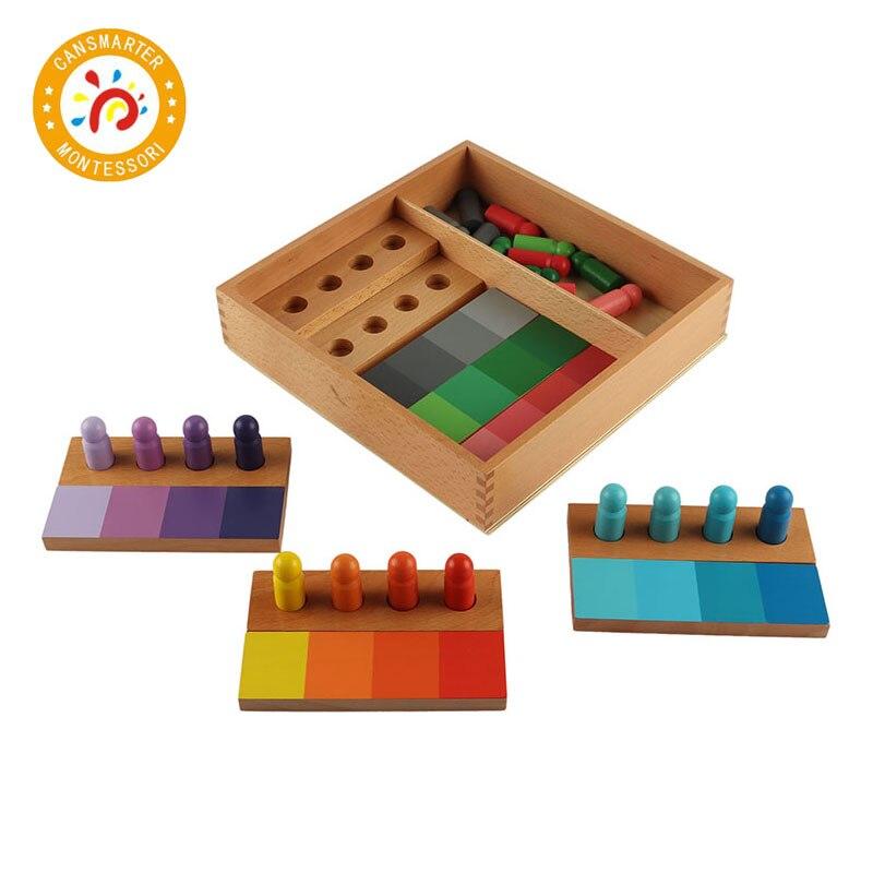 Montessori enfants jouet de haute qualité en bois couleur ressemblance tri tâche jeu bois petite enfance préscolaire jouets éducatifs SE054