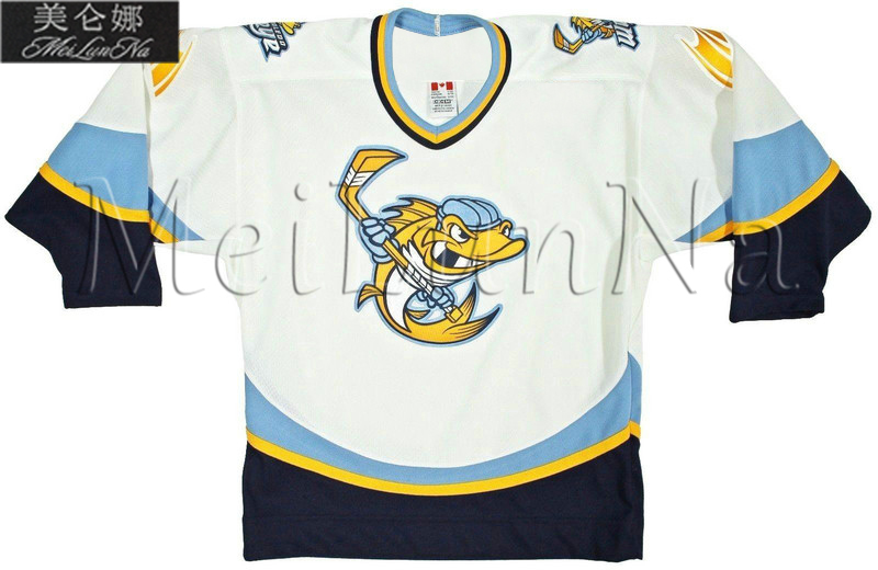 Customize ECHL Toledo Walleye Jersey Home White1