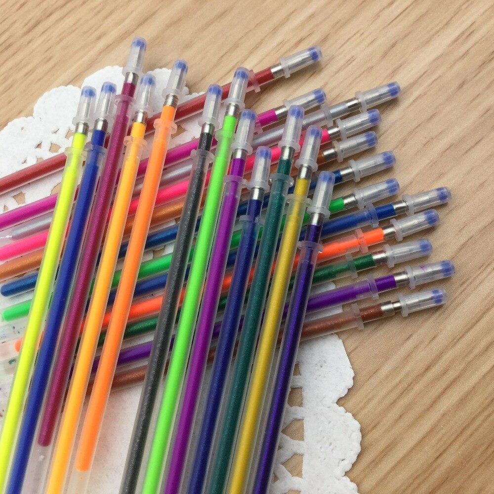 24Pcs//Set Colorful Gel Pens Refill Marker Refill Stationery School Child Office