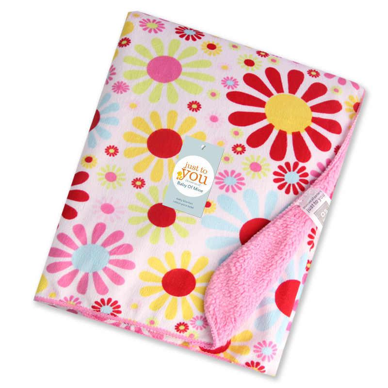 Одеяла 102 см x 76 см новый бренд Утолщаются Двойной Слои коралловый флис младенческой Пеленальный конверт коляска Обёрточная бумага для новорожденных Bébé Literie