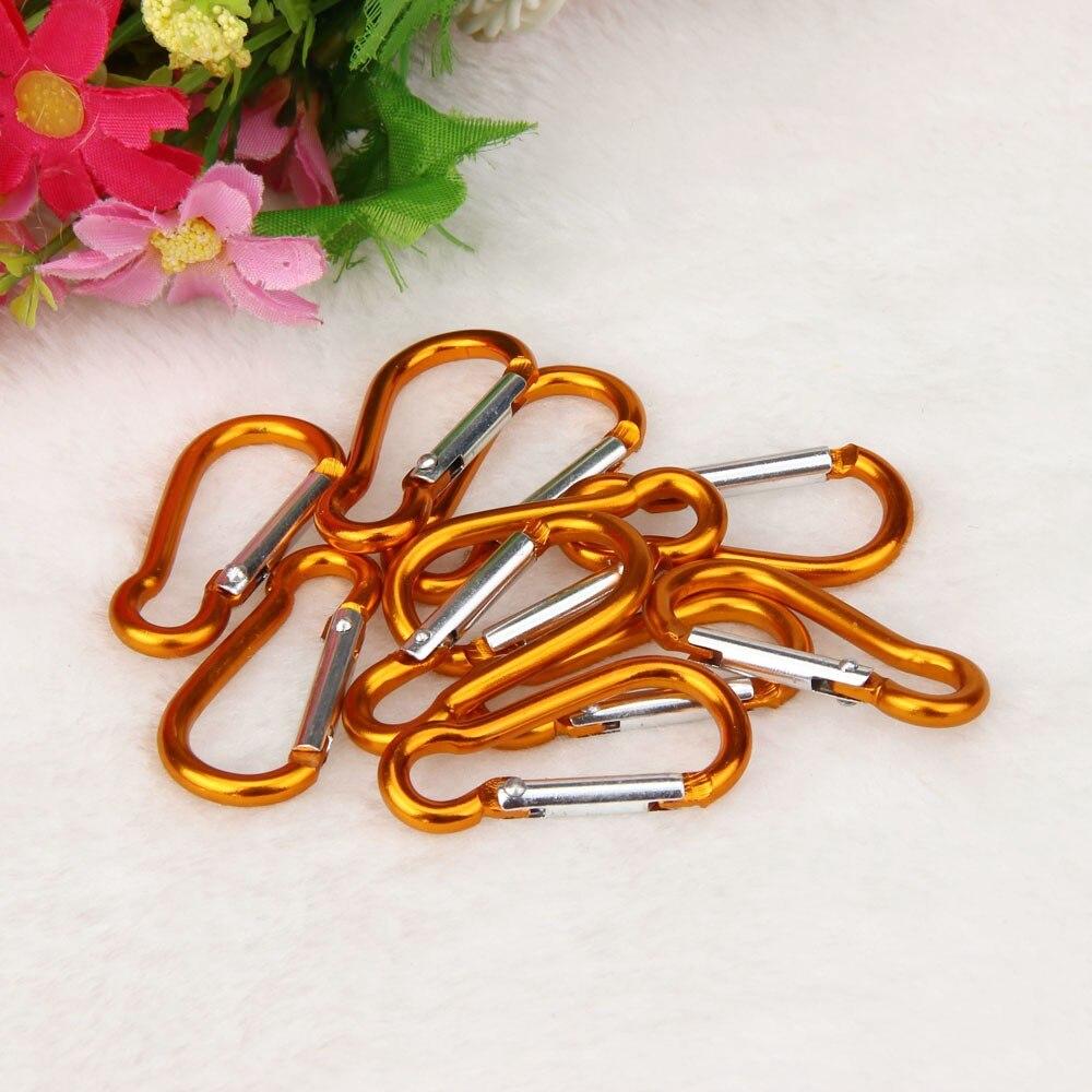 10 шт. карабин из алюминиевого сплава d-образное кольцо брелок зажим для ключей походный лагерь альпинистский крюк аксессуары для альпинизма M22