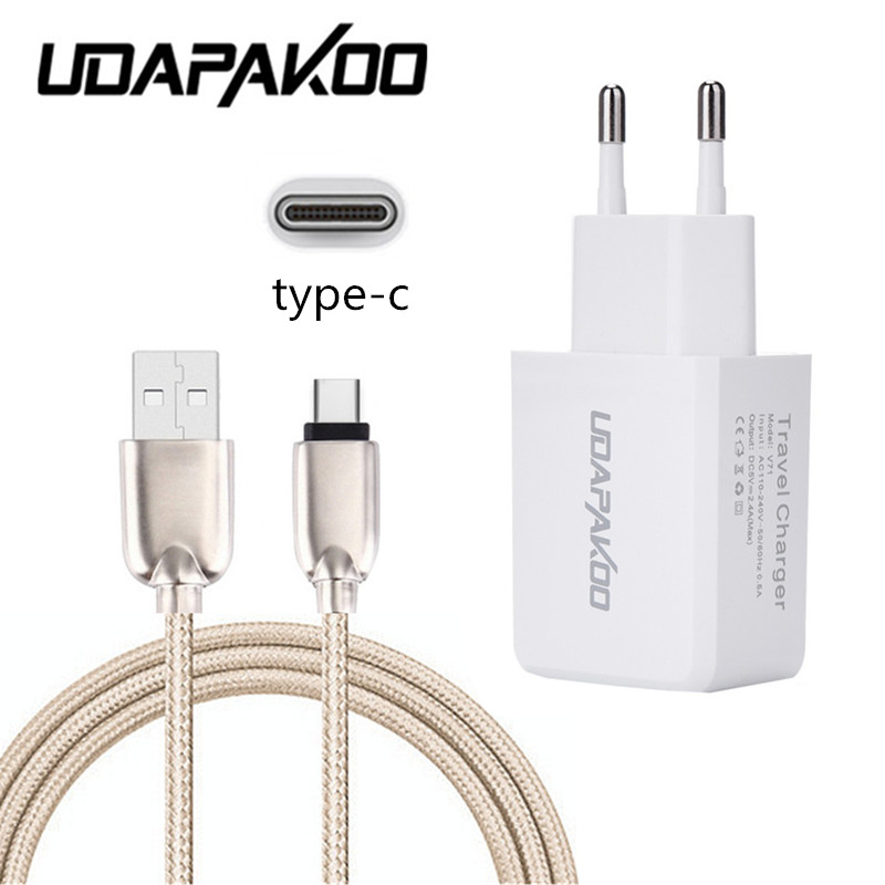 Цинковый сплав Тип C-USB кабель и 5 В 2A быстрое зарядное устройство Шнур для Samsung S8 плюс Huawei P9 Mate 9 Honor 8 V9 <font><b>LG</b></font> <font><b>G5</b></font> ZTE Axon 7/z11 max