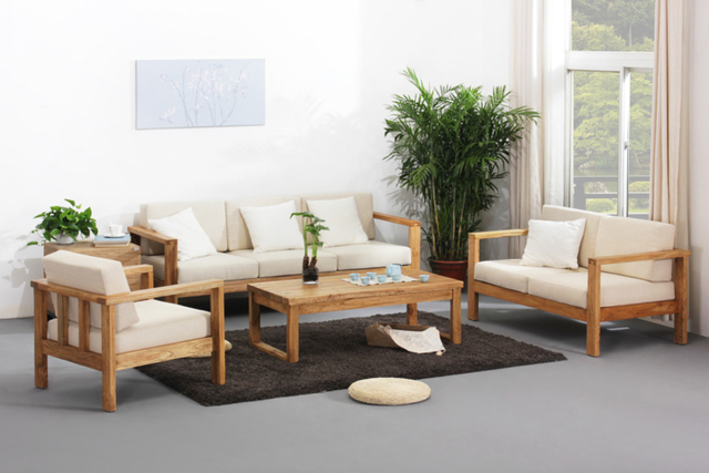 After The Pine Wood Sofa Sofa Pure Chinese Modern Minimalist Living Room  Neoclassical Furniture Wood