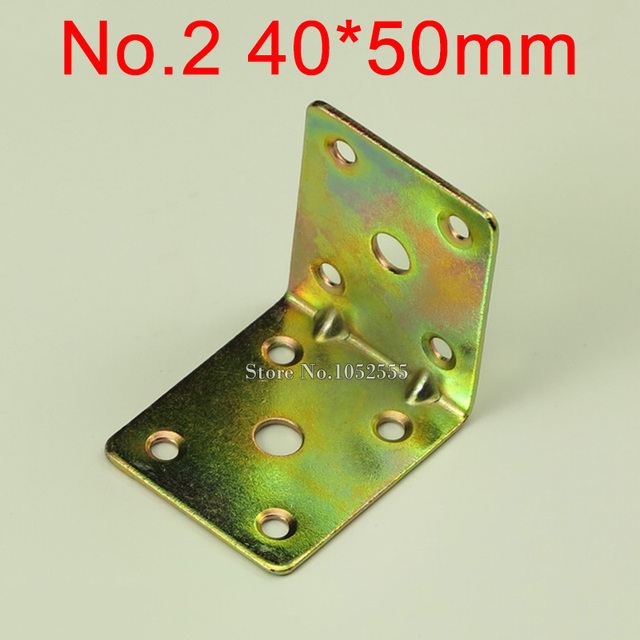 10PCS 40*50mm Furniture Metal Corners Angle Bracket L Shape Colored Plating  Frame Board