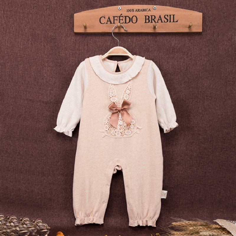 New Fashion Spring Newborn Baby Organic Cotton Rompers Clothes Infant Toddler Girls Long Sleeve Onesie Jumpsuit Rompers Clothing cotton baby rompers infant toddler jumpsuit lace collar short sleeve baby girl clothing newborn bebe overall clothes