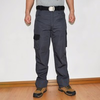 Men New Design Multiple Pockets Working Pant Mens Cargo Casual Pants Loose Fit Military Style Rip Stop Trouser ID714