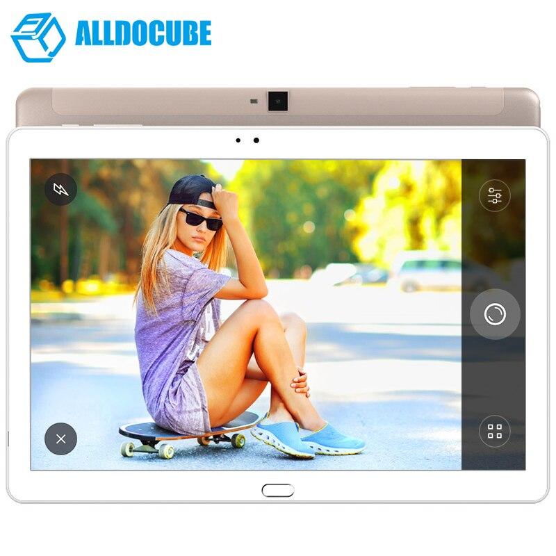 ALLDOCUBE Gratuit Jeunes X7 D'empreintes Digitales Tablette PC 10.1 pouce 1920*1200 IPS Android 6.0 4g Appel Téléphonique MT8783V-CT octa Core 3 gb 32 gb