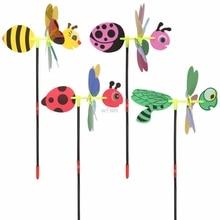 3D блестки животных пчела ветряная мельница ветер Spinner домашний сад двор декоративные Детские игрушки MAY07 дропшиппинг