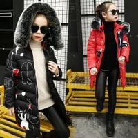 Girls Jacket 2019 Fashion Thick Coat Winter Down Jackets kids Clothing For 6 8 10 12 Years Children Outerwear Girl clothes parka