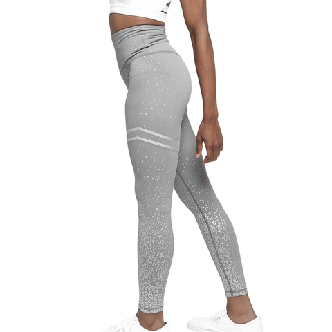HEFLASHOR Solid Push Up Dot Printed Leggings High  Workout Sweatpants Women Sports Running Pants Fitness Trousers Female Lahore