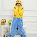 Hot Fashion Minions Cartoon Design Cosplay Pajamas Kids Boys Girls Flannel Sleepers Female Male Pijamas pyjamas Hooded Style