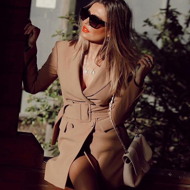 khaki-women-elegant-long-blazers-2019-spring-autumn-ladies-chic-notched-collar-suits-jackets-with-belt-chic-girls-blazer-tops