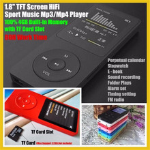 1.8″ TFT Screen 100% 4GB HiFi Sport Music Mp3 Player with TF/SD Card Slot (Max Support 32GB),FM,Recorder,E-Book,80H worktime