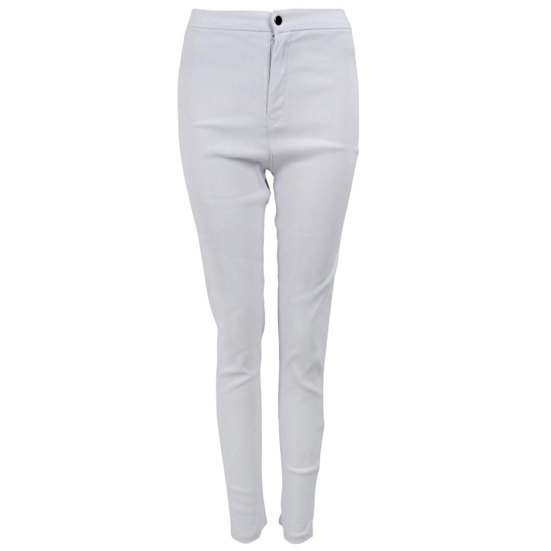 Womens Fashion Elasticity High Waist   Jeans