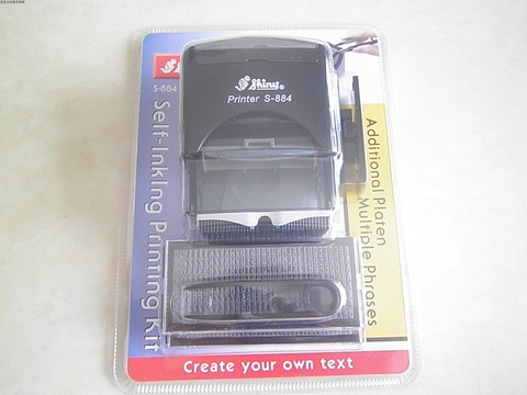 mini d i y set stamper kit de impressao