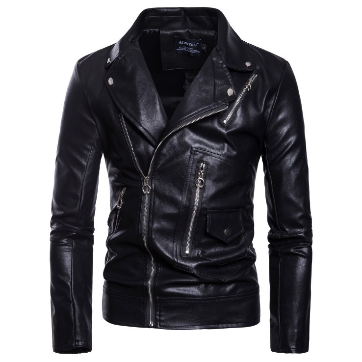 2019 New Arrival Motorcycle Leather Jacket Men Casual Biker Jacket Slim Fit Zippers Male Faux Leather Jackets And Coats M-5XL