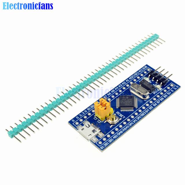 Freies Verschiffen STM32F103C8T6 ARM STM32 Cortex-M3 Mindestsystem Development Board Modul Mit Kristall Für Arduino 72 MHz Mini USB