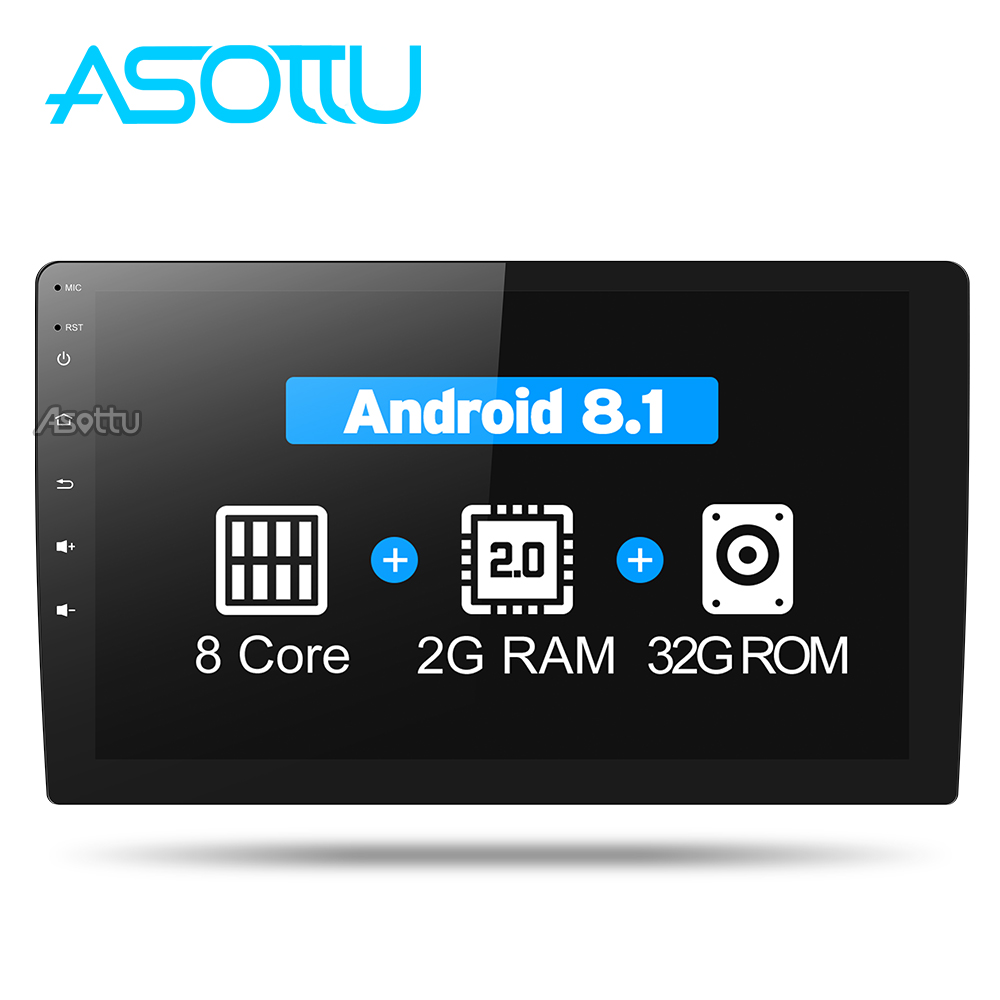 Asottu DDTY1060 IPS android car dvd gps navigation radio video audio player car stereo universal 1 din car multimedia player gps