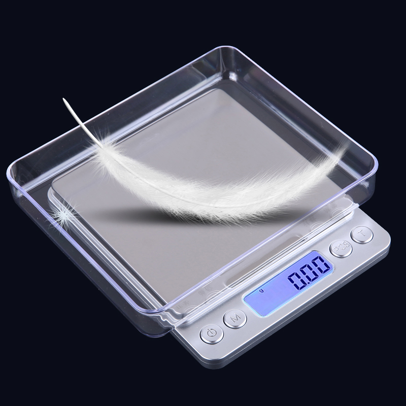 Portable Electronic Weight Scales 500g Mini Precision Scales Digital Kitchen Scale With 2 Trays 0.01g Jewelry Weighing Balance lcd digital jewelry scales 500g 0 1g electronic scale precision portable pocket weight balance kitchen gram scale