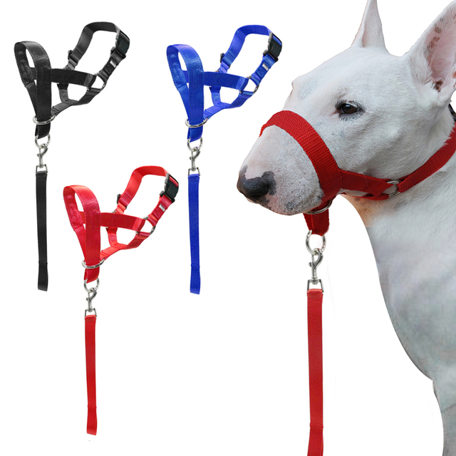 Nylon Testa Cani Collare di Addestramento Del Cane Halter Blu Rosso Nero Colori