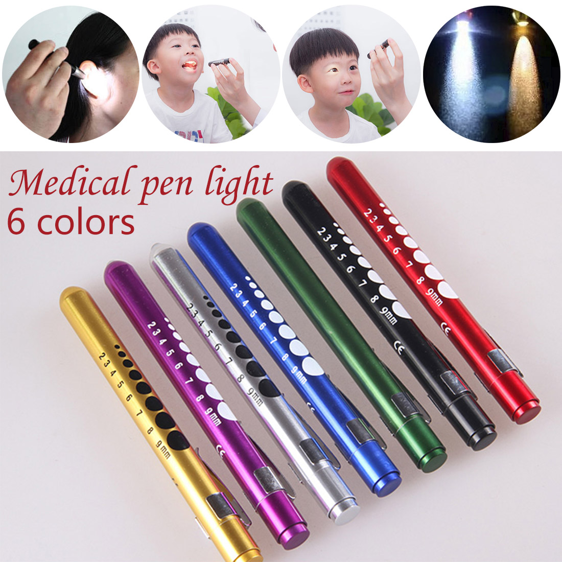 Work Light Beam Penlight Pen Light Pocket Torch Reusable Emergency Yellow Beam Medical Doctor Nurse Pen Light