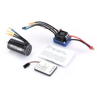 4076 2000KV 4 poles Sensorless Brushless Motor 120A ESC with LED Programming Card Combo Set for 1/8 RC Drone Car Accesorries