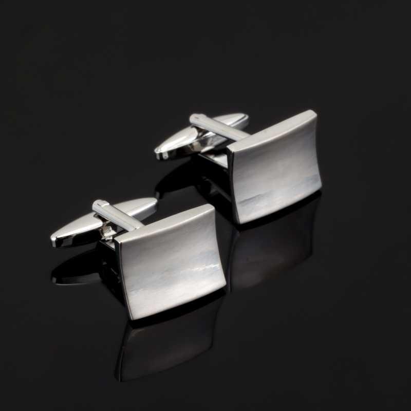 Fashion Mewah Laser Terukir Check Sudoku Desain atau 18 Gaya untuk Pria Merek Manset Tombol Manset Perhiasan Berkualitas Tinggi