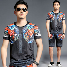 Chinese style carp pattern 3D printing fashion t shirt&shorts suit Summer 2018 New quality soft comfortable tracksuit men M-4XL