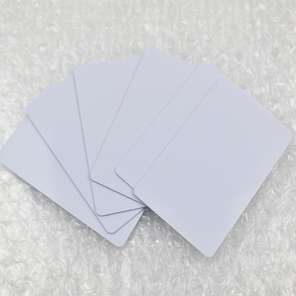 100 pcs/lot 13.56 mhz jet d'encre imprimable carte PVC Fudan nfc 1 K S50 puce pour imprimante Epson, imprimante Canon