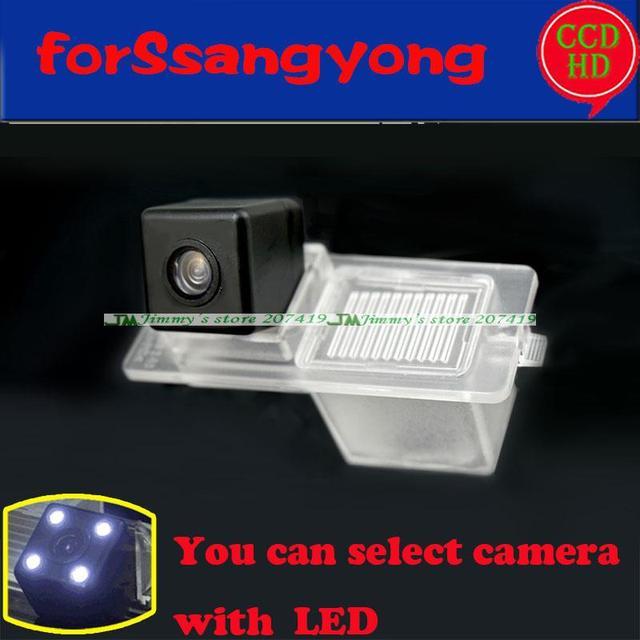 Fio sem fio car câmara de visão traseira para SsangYong Actyon Korando Rexton Kyron Novo parque de estacionamento da câmera para sony ccd LEDS noite visão