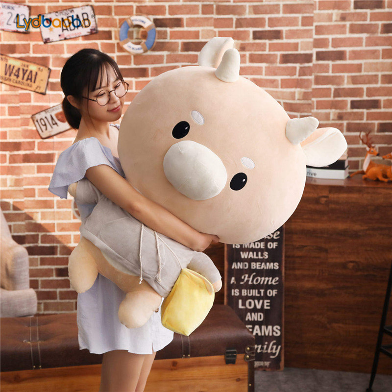 1pc Giant TV Lovely Whats Wrong With Secretary Kim Hard Caw Pet Doll Plush Korean Drama Cow Stuffed Child Kid Toy Birthday Gift