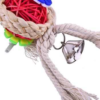 Vogel Speelgoed Papegaaispeelgoed Swing Papegaaienkooi Bal Opknoping Valkparkiet Parkiet Huisdier Vogel Beten Klim Kauwspeeltjes 5