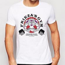 Dragon Ball Z Fashion Blue and Red Goku Design T shirt Custom Printed Short Sleeve Men's T-shirt
