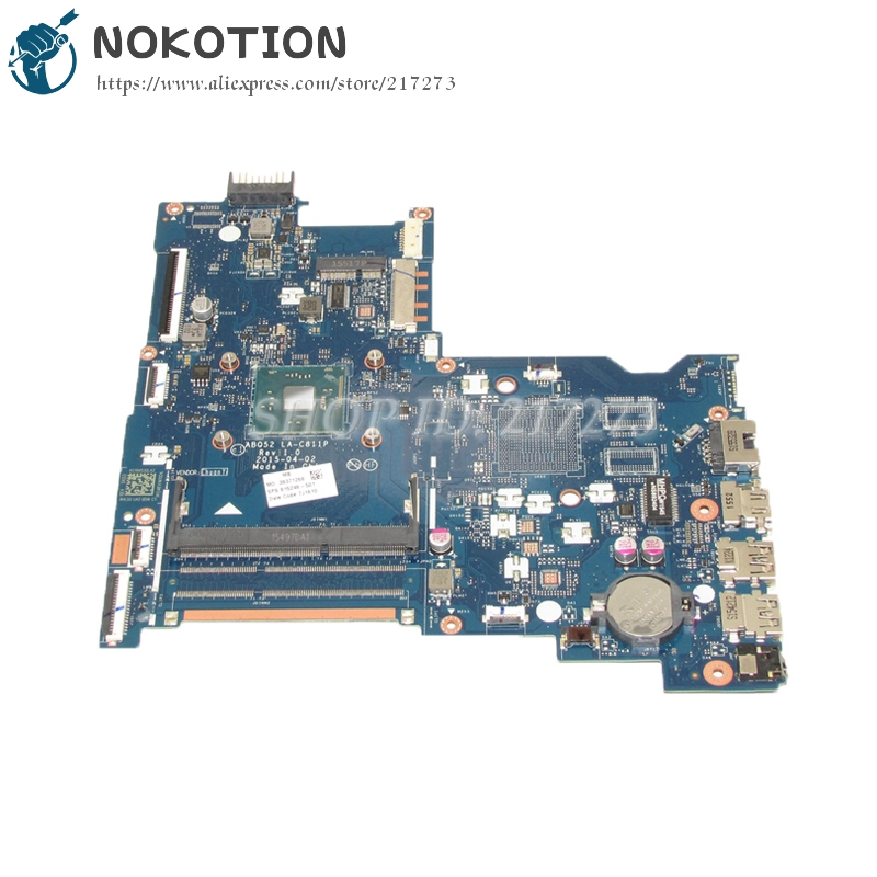 NOKOTION 815248-501 815248-001 ABQ52 LA-C811P MAIN BOARD For HP 15-AC Laptop Motherboard DDR3 With Processor onboard nokotion zs051 la a996p rev 1 0 764262 501 764262 001 motherboard for hp 15 g series laptop main board ddr3
