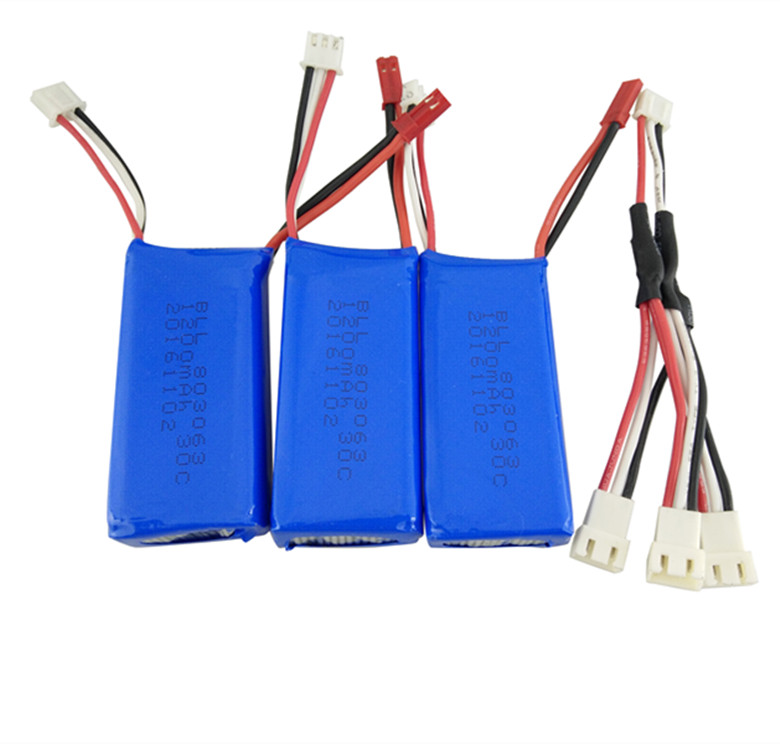 Yi Zhan Tarantula X6 3PCS 7.4V 1200mAh Battery and Charging Line H16 MJX X101 WLtoys V666 Four Axis Aircraft Parts 3pcs battery and european regulation charger with 1 cable 3 line for mjx b3 helicopter 7 4v 1800mah 25c aircraft parts xt30