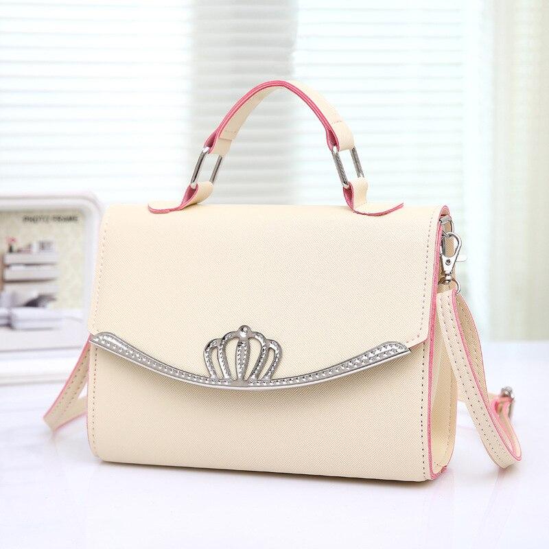 RanHuang Women Candy Color Casual Handbags PU Leather Small Shoulder Bags Female Designer Messenger Bags Blue bolsa feminina A35 3