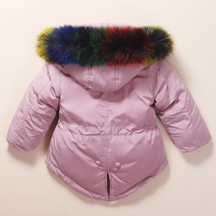 Image 5 - 2019 Russian Winter children clothing sets Warm duck down jacket for baby girl children's coat snow wear kids suit Fur Collar-in Down & Parkas from Mother & Kids
