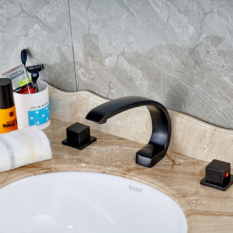 Deck Mount Oil Rubbed Bronze Bathroom Widespread Tub Faucet Sink Mixer Tap NEW наземный низкий светильник feron витраж с овалом 11329